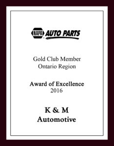Napa gives K&M Automotive an award of excellence